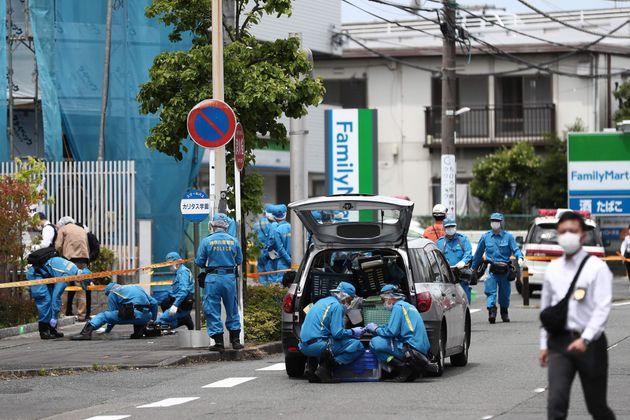 小学生を含む複数人が刺された登戸駅近くの現場付近
