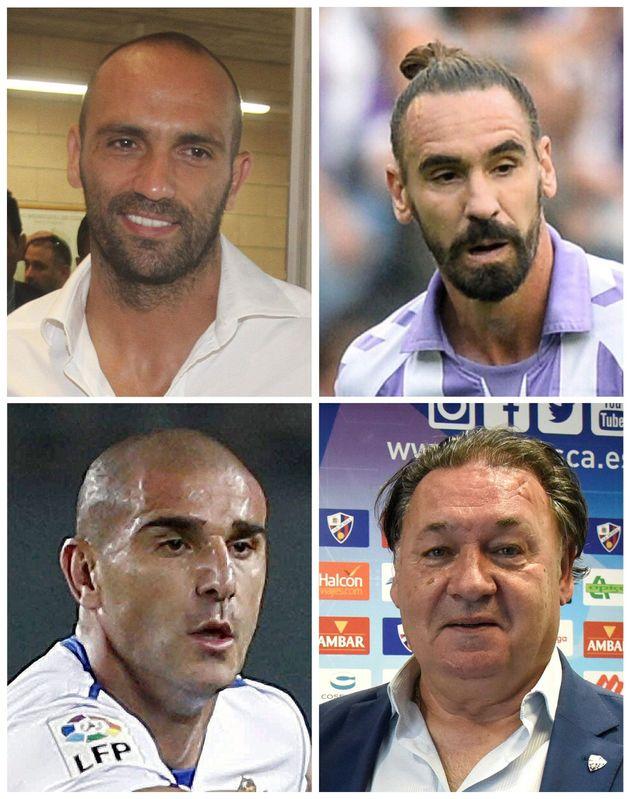 (De izda a dcha y de arriba abajo) los futbolistas Raúl Bravo, Borja Fernández, Carlos...