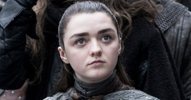 Maisie in character as Arya