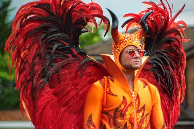 Taron Egerton as Elton John in Rocketman from Paramount