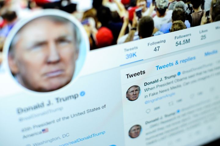 President Donald Trump is the abuser-in-chief on Twitter.