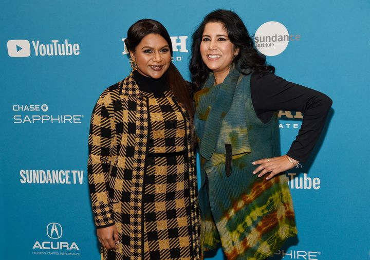 """Late Night"" star and writer Mindy Kaling (left) and director Nisha Ganatra at the Sundance Film Festival in January."