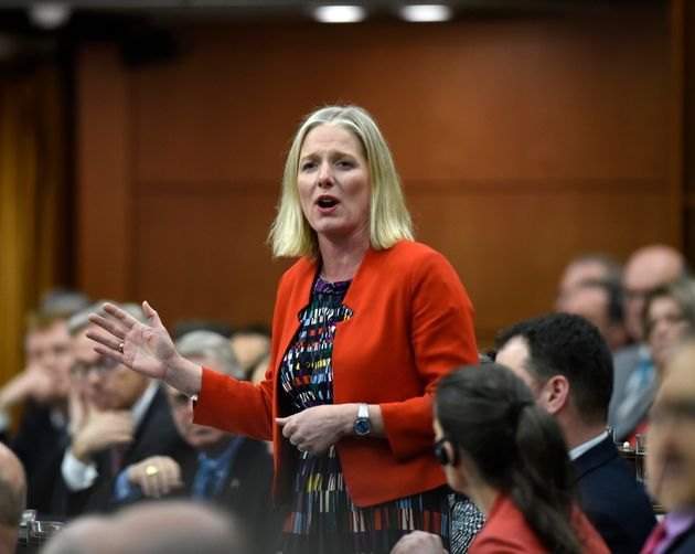Environment Minister Catherine McKenna rises in the House of Commons on Parliament Hill in Ottawa on...