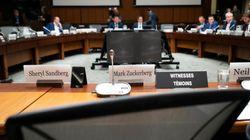 Un siège vide pour Zuckerberg lors d'un comité à