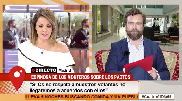 Tensión entre Carme Chaparro y Espinosa de los Monteros (Vox):