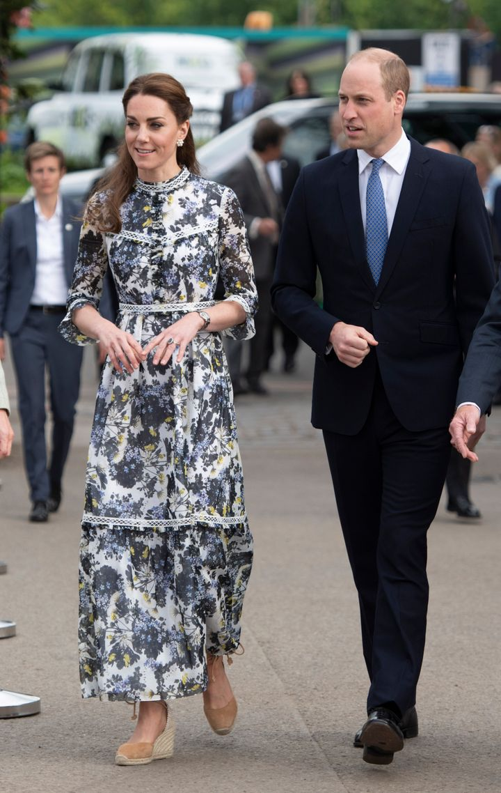 Prince William and the Duchess of Cambridge at the RHS Chelsea Flower Show 2019 press day on May 20 in London, England.