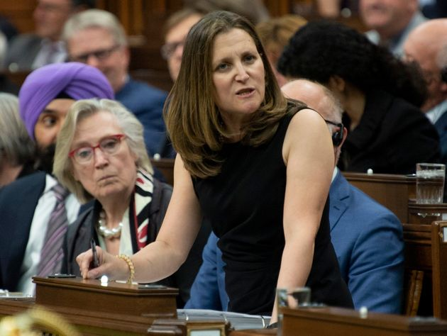 Foreign Affairs Minister Chrystia Freeland responds to a question in the House of Commons on...