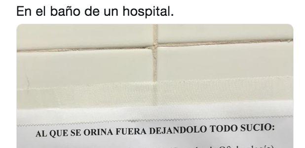 El aplaudido cartel en el baño de un hospital: