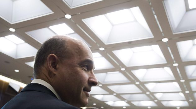 Jim Balsillie, Council of Canadian Innovators, arrives to appear as a witness at a Commons privacy and...