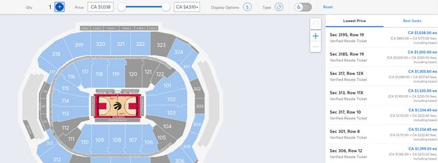 Raptors NBA Finals Tickets Start Around $1,000, So That's