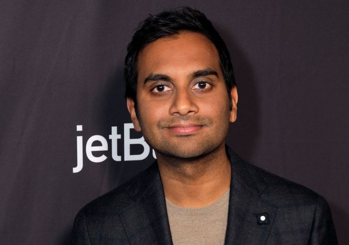 "Aziz Ansari at the ""Parks and Recreation"" Reunion Panel at PaleyFest in March."