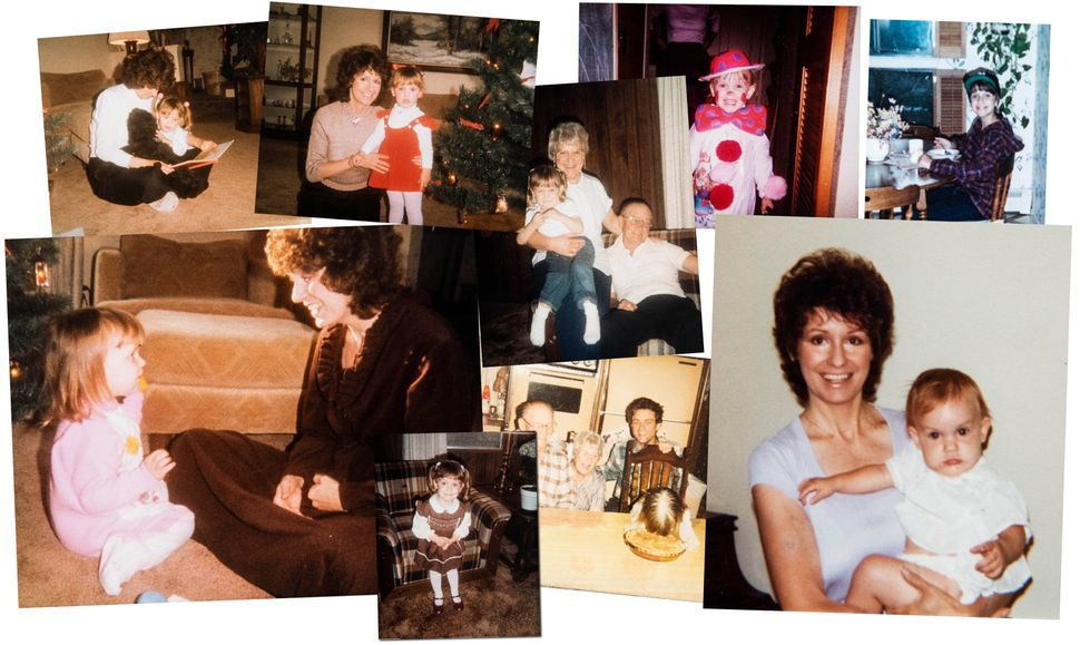 Childhood photos of Jess McIntosh and her mother, Nana McIntosh. Nana underwent artificial insemination...