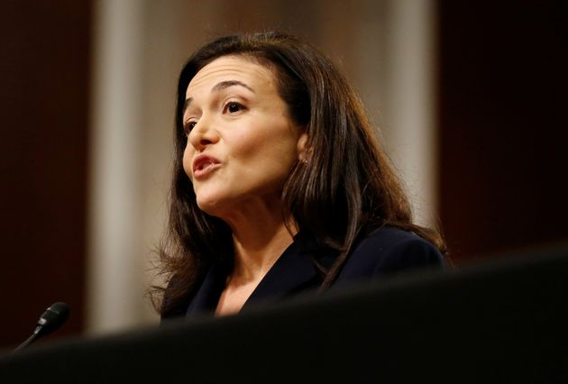 Facebook COO Sheryl Sandberg testifies before a Senate Intelligence Committee hearing on foreign influence...