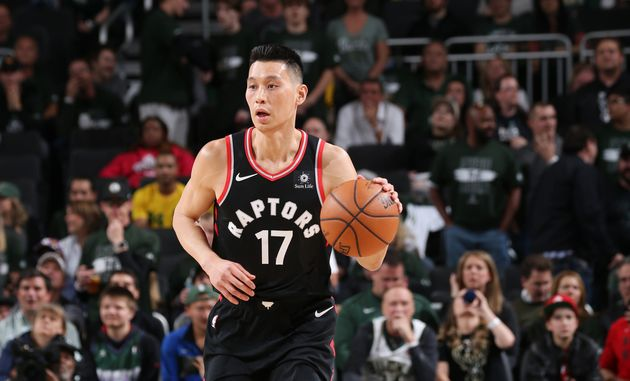 Jeremy Lin handles the ball against the Milwaukee Bucks during Game Two of the Eastern Conference Finals...