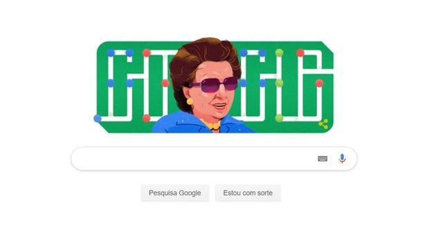 Doodle na página inicial do buscador mostra ilustração com o rosto de Dorina à...