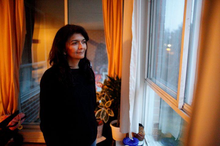 ACORN member Alejandra Ruiz Vargas poses for a photo in her home in Toronto, April 9, 2015.