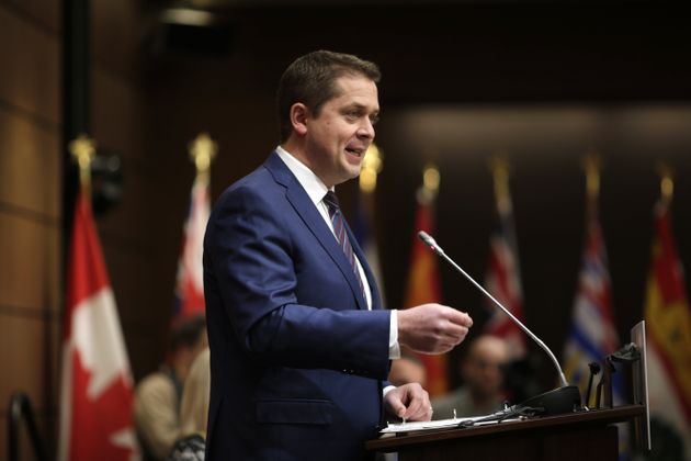 Andrew Scheer during a caucus meeting in Ottawa on Jan. 27,