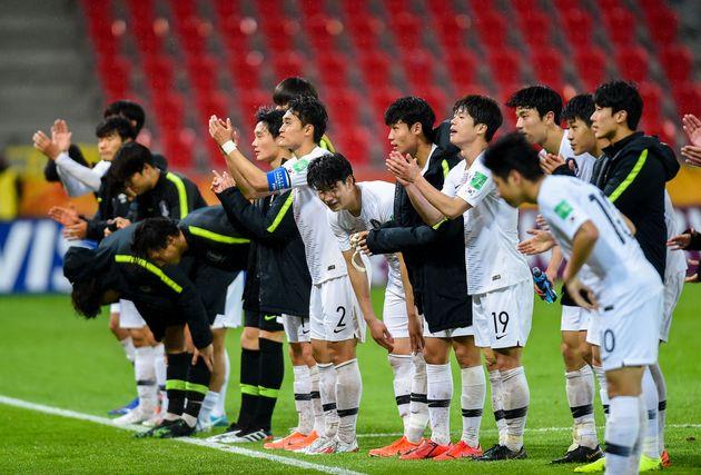 [U-20 월드컵] 한국이 남아공을 꺾었다. '죽음의 조' 16강 진출