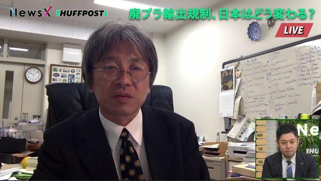 番組にSkypeで出演した東京農工大学・高田秀重教授