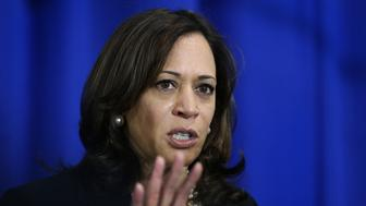 NASHUA NH. - MAY 15: Kamala Harris, California Senator and Democratic candidate for President, speaks to the media after a campaign stop on May 15, 2019 in Nashua, NH.  (Staff Photo By Nancy Lane/MediaNews Group/Boston Herald)