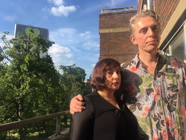 Viviana Rullo and David O' Connell, evacuated from their home close to the tower on the night of...