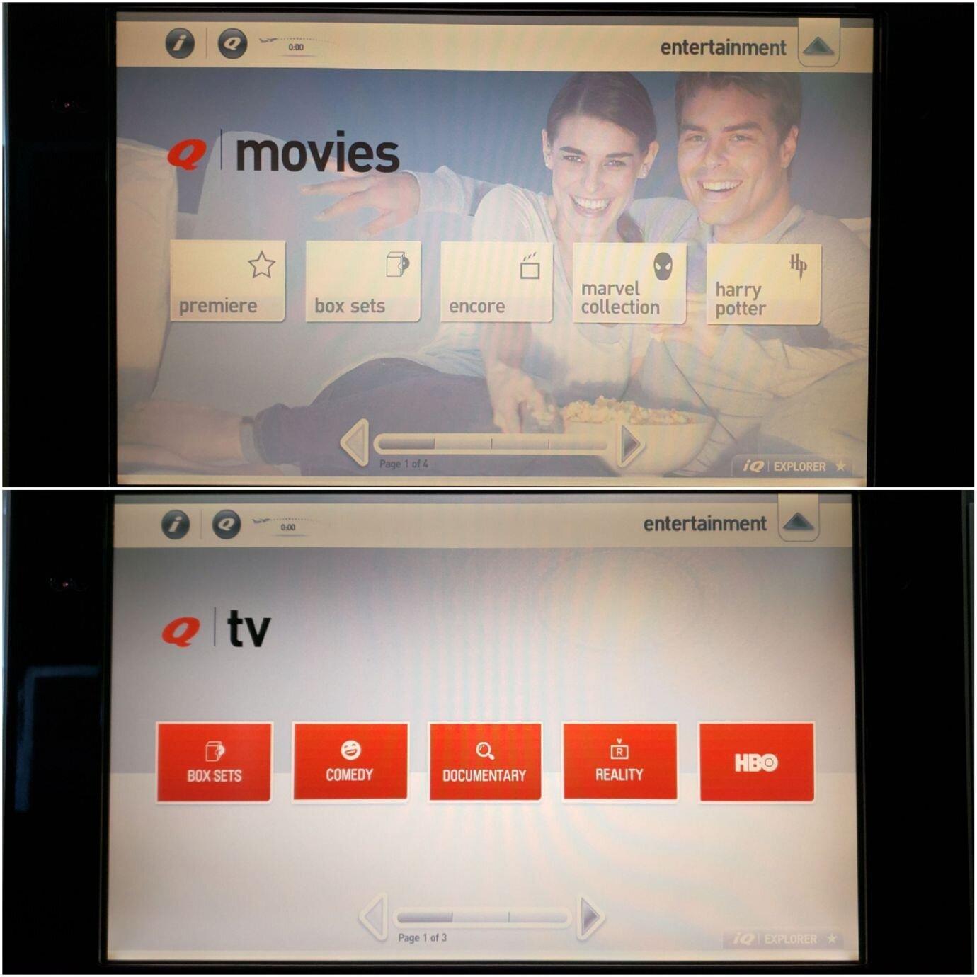 電影(上圖)與電視影集(下圖)選擇
