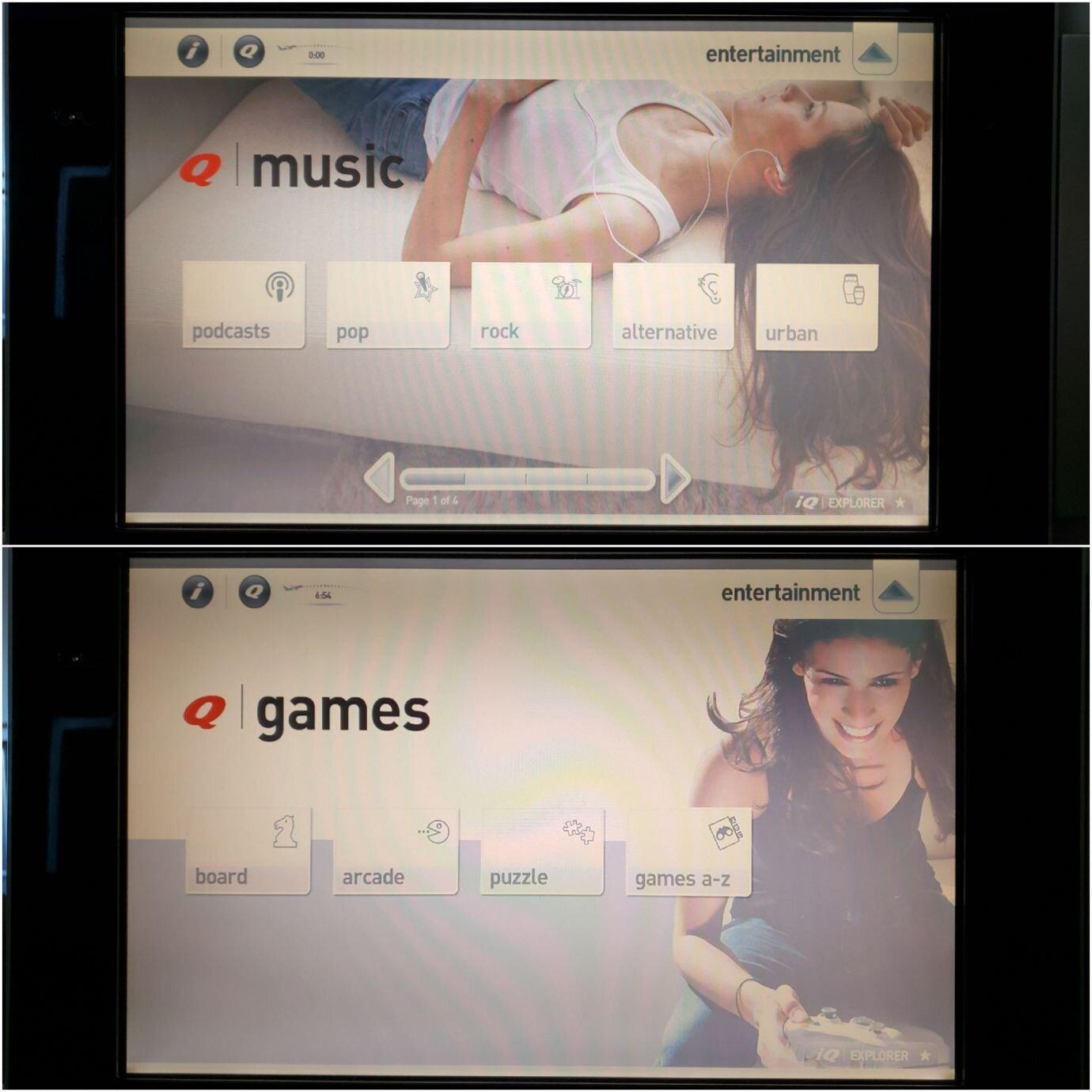 音樂(上圖)與遊戲(下圖)的選項