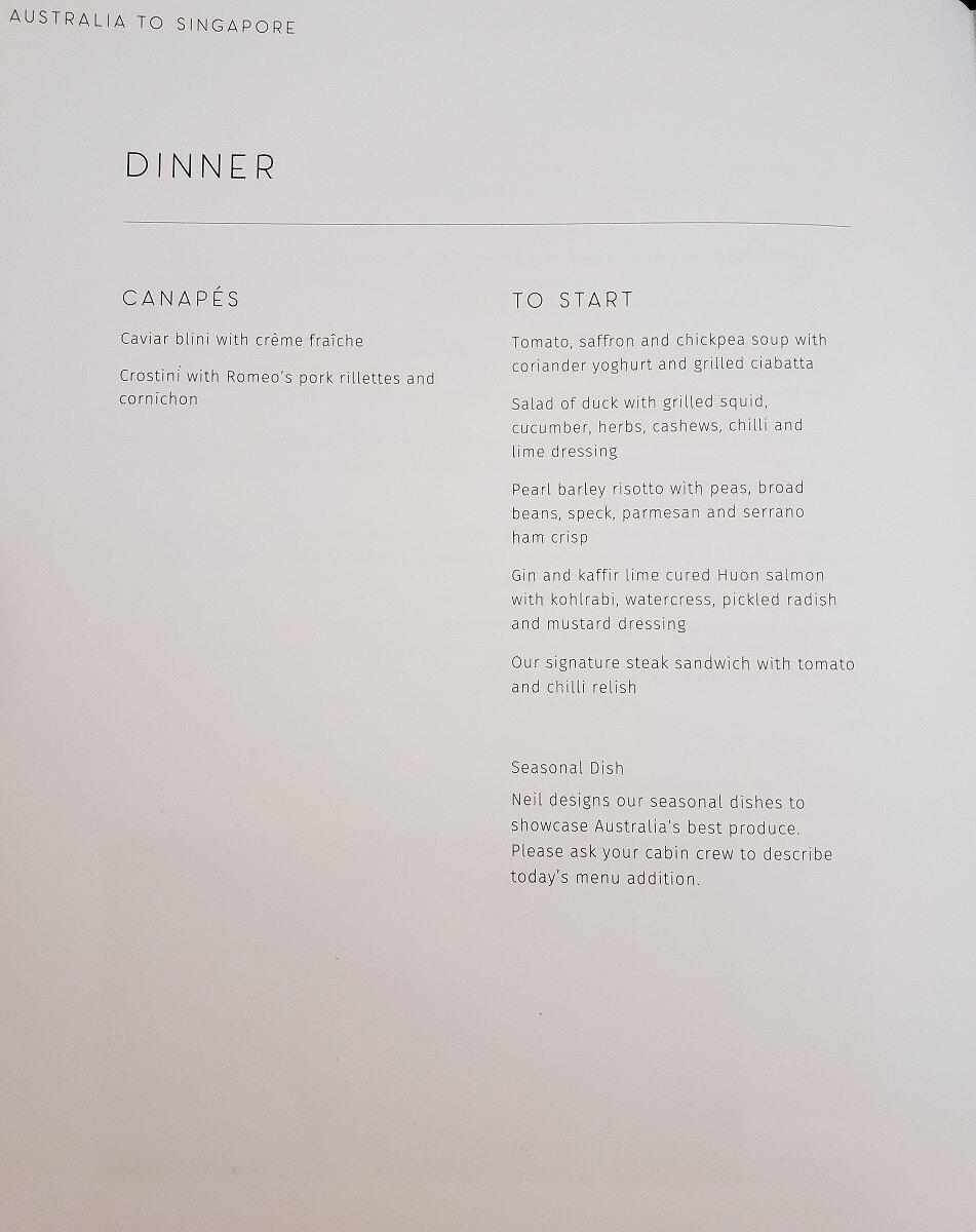 """晚餐的開胃菜選擇(其實還是白天,不知道為何稱作""""晚餐"""")"""