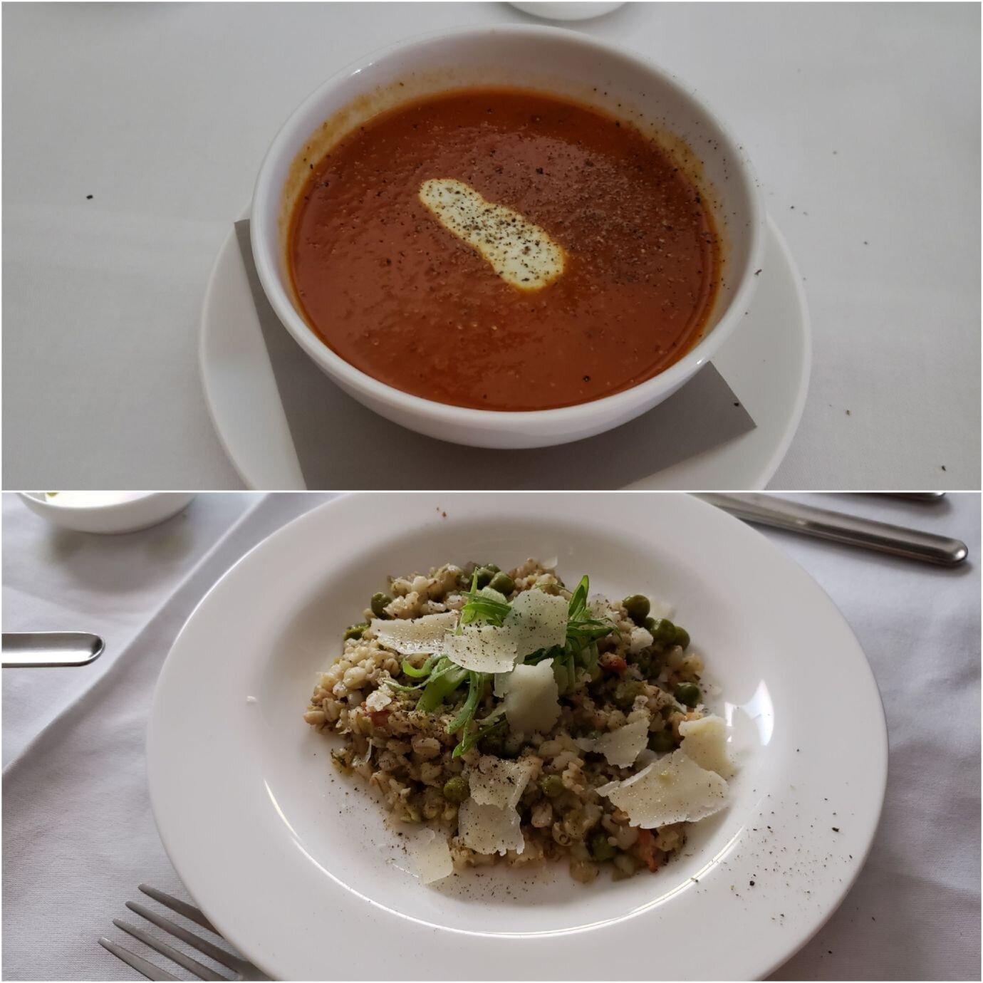 再來是我點的濃湯(上圖),老婆點的是義大利式燉飯 (Risotto)(下圖)