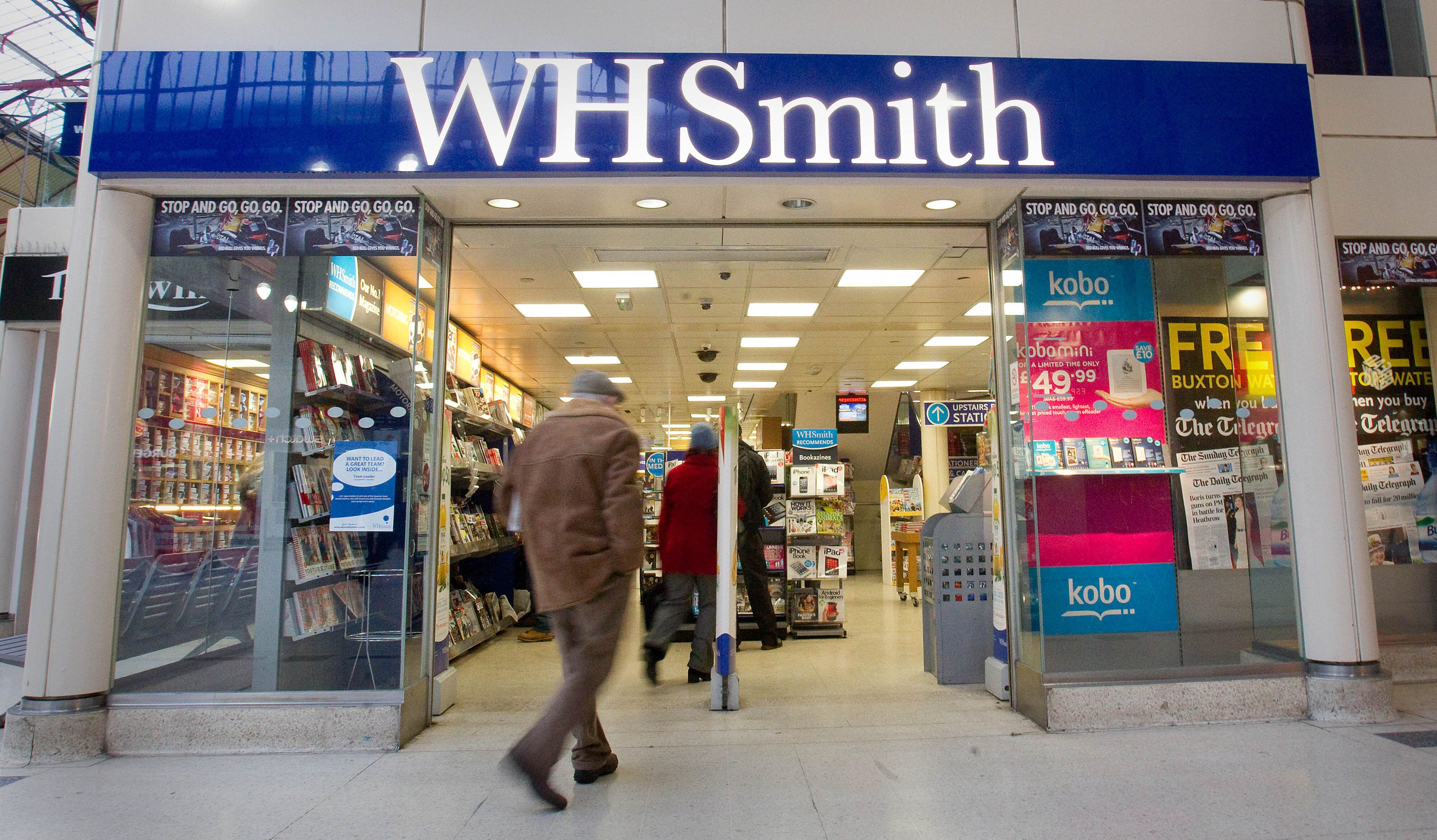 Embargoed to 0001 Wednesday May 29 File photo dated 23/1/2013 of a branch of WH Smith in London. WHSmith has once again been voted the UK's worst high street shop in an annual survey.