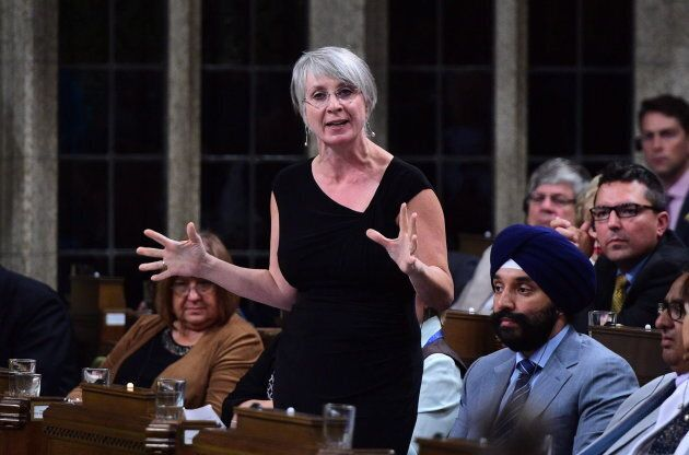 Patty Hajdu, Minister of Employment, Workforce Development and Labour stands during question period in the House of Commons on Parliament Hill in Ottawa on Sept. 19, 2017.