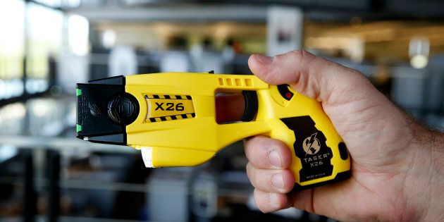 The Taser X26 electronic weapon at the Taser International Inc. manufacturing facility in Scottsdale,...