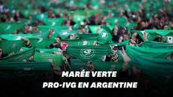 """En Argentine, la """"marée verte"""" se poursuit en faveur de"""