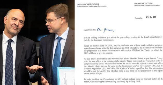 La lettera Ue all'Italia:
