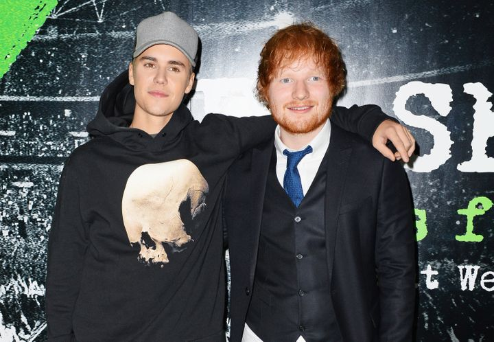 Justin Bieber and Ed Sheeran collaborate on the British singer-songwriter's upcoming album.