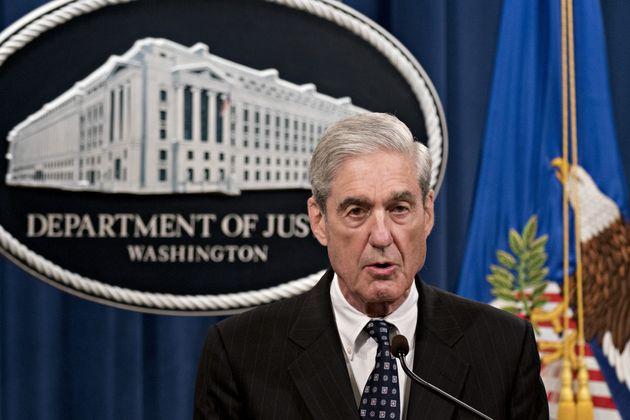 Former FBI director Robert Mueller, seen here at the U.S. Justice Department on Wednesday, says he will...