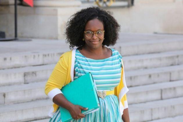 Sibeth Ndiaye à la sortie du conseil des ministres le 29 mai