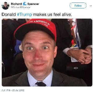 An ardent supporter of Donald Trump during the 2016 election, Richard Spencer turned on the president...