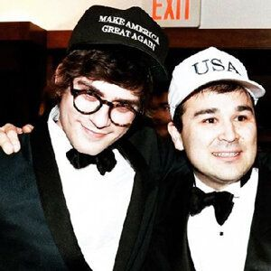 Lucian Wintrich with white nationalist Marcus Epstein, who pleaded guilty to assaulting a black woman in Washington in 2007 after calling her a racial slur.