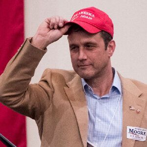 The former Republican congressional candidate has been banned from Twitter.