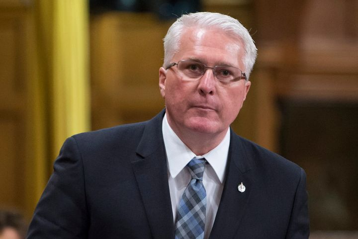 Barrie-Innisfil MP John Brassard, pictured here in the House of Commons in Ottawa on May 6, 2016, filed a complaint with city's integrity commissioner about Keenan Aylwin's Facebook post.