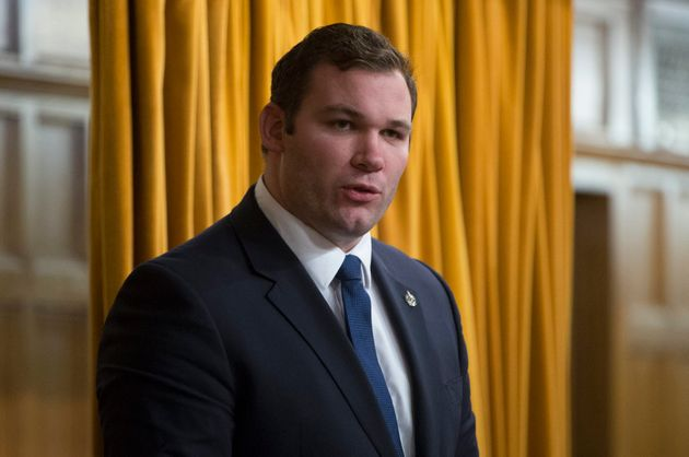 Barrie–Springwater–Oro-Medonte MP Alexander Nuttall speaks in the House of Commons Feb....
