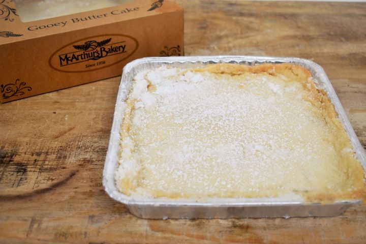 Classic gooey butter cake from McArthur's Bakery in St. Louis.