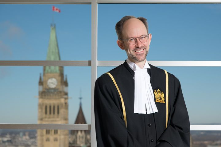 Justice Sebastien Grammond, seen in an official handout photo, published his ruling in English, French, Cree and Dene.