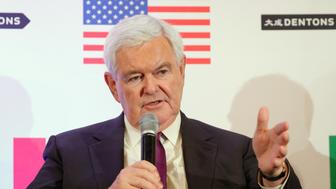 WASHINGTON, DC - OCTOBER 11:  Hon. Newt Gingrich speaks about Trump, Trudeau, and Nieto regarding NAFTA Negotiations at Dentons NAFTA 2.0 Summit on October 11, 2017 in Washington, DC.  (Photo by Paul Morigi/Getty Images for Dentons)