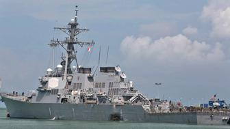 The USS John McCain (U.S. Navy via AP)