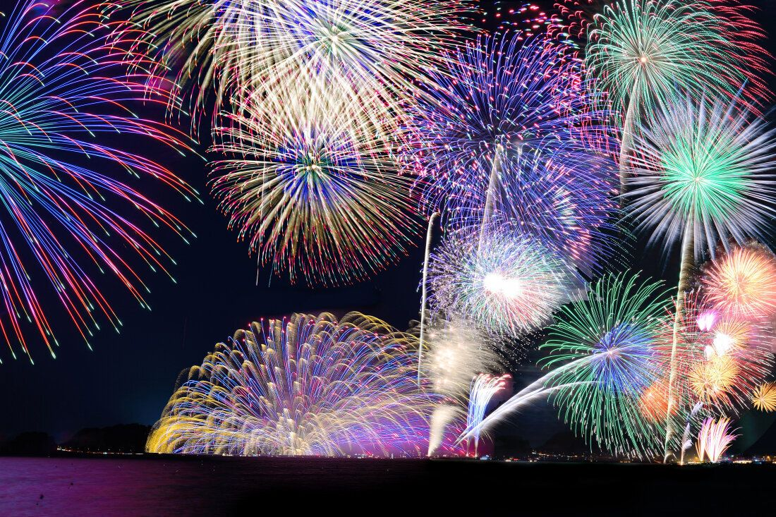 鎌倉煙火大會。圖片來源:AC寫真