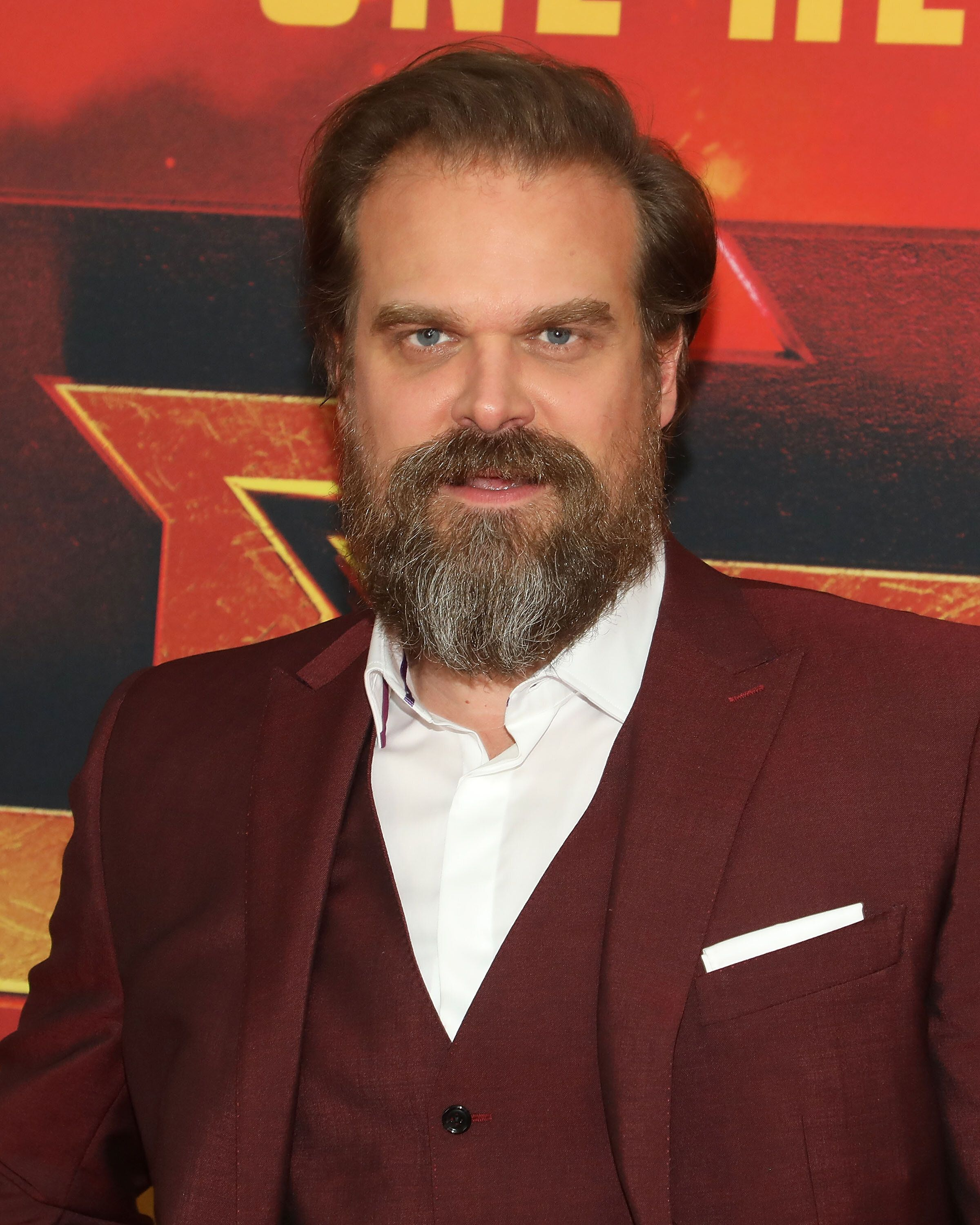 """NEW YORK, NY - APRIL 09: Actor David Harbour attends the New York premiere of """"Hellboy"""" at AMC Lincoln Square Theater on April 9, 2019 in New York City. (Photo by Taylor Hill/WireImage)"""