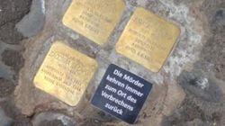 """Nuovo atto vandalico sulle pietre d'inciampo. Compare la scritta: """"L'assassino torna sempre sul luogo del"""