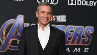 """Disney CEO Bob Iger arrives at the premiere of """"Avengers: Endgame"""" at the Los Angeles Convention Center on Monday, April 22, 2019. (Photo by Jordan Strauss/Invision/AP)"""